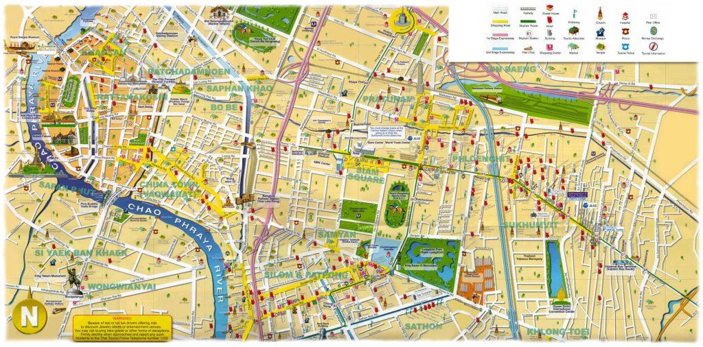 Plan du centre-ville