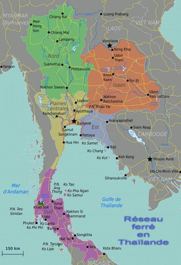 Le Train en Thaïlande