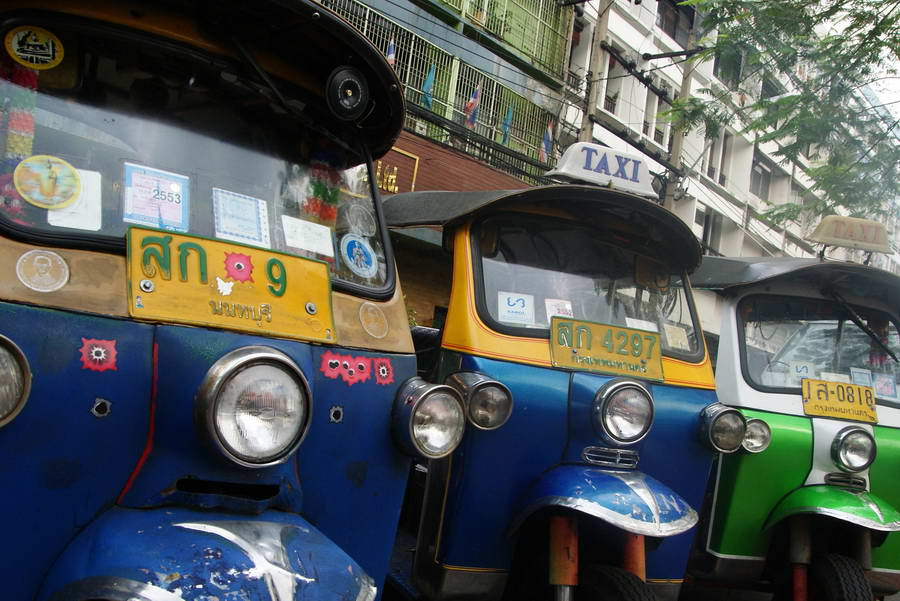 Tuk-tuks à Bangkok