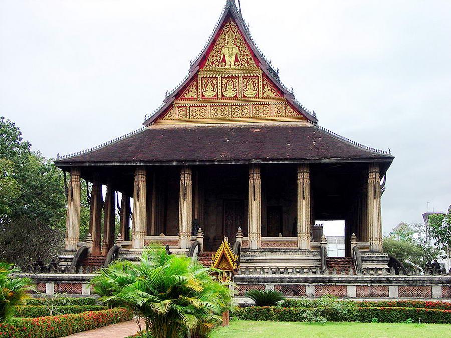 Vat Phra Kèo à Vientiane où la statue fut conservée pendant 214 ans.